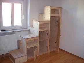 Projekt Schrank Mit Stufen Fur Hochbett